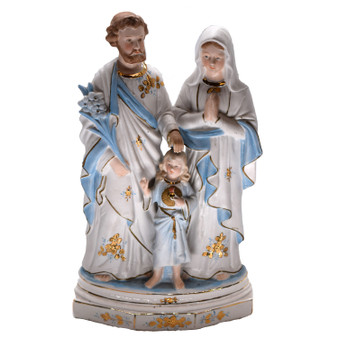 Holy Family Statue Biscuit Porcelain