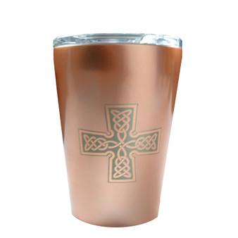 Copper tone tumbler