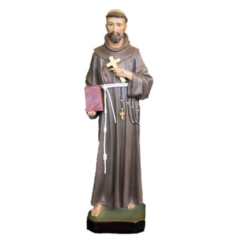 St. Francis of Assisi 24 Inch Statue, Glass Eyes