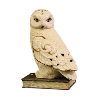 Hand Carved Ceramic Owl
