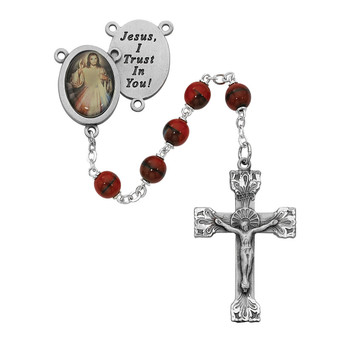 Divine Mercy with Red Beads