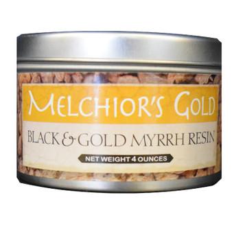 Black & Gold Myrrh Resin 4 oz.