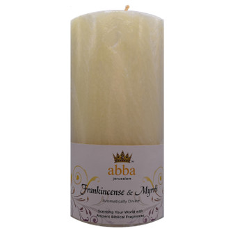 "Frankincense & Myrrh Pillar Candle, 3"" x 6"""