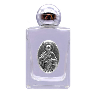 St. Jude Glass Holy Water Bottle 1.5 x 2.5 Inches