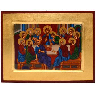 Last Supper Icon 12 x 9.5 Inches