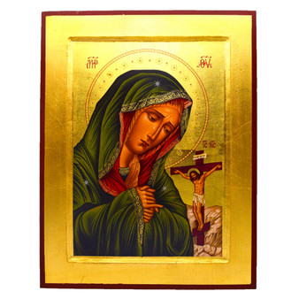 Mater Dolorosa (Mother of Sorrows) Gold Leaf Icon
