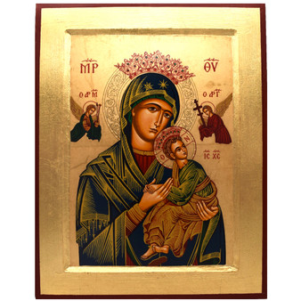 Our Lady of Perpetual Help Icon,  9 x 7 inches