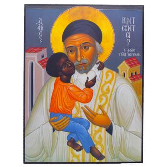 St. Vincent de Paul Icon, 7.5 x 10 inches.
