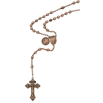 Copper Plated St Benedict Rosary