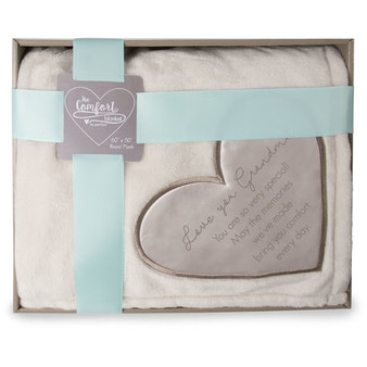 "Royal Plush Blanket, 50"" x 60"", Love You Grandma in gift box"