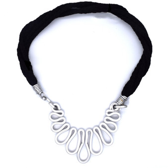 Long Spiral Recycled Aluminum Rope Neck
