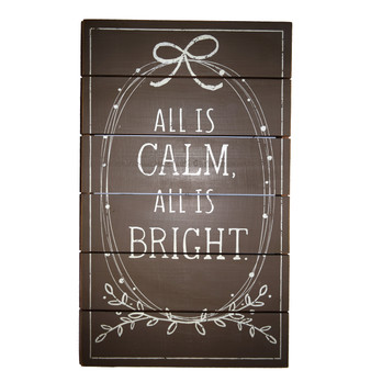 """All is Calm,  All is Bright"" Wall Art"