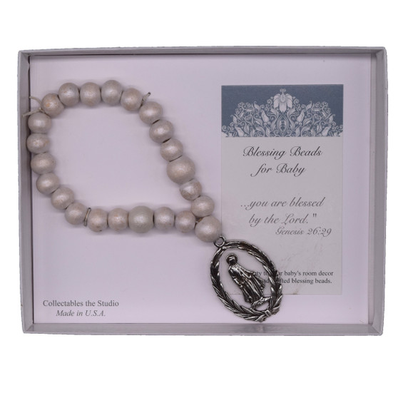 Blessing Beads for Baby with Our Lady Medal
