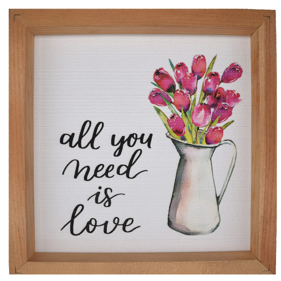 """All You Need Is Love,"" Wall Décor, About 11"" x 11"" x 2"""