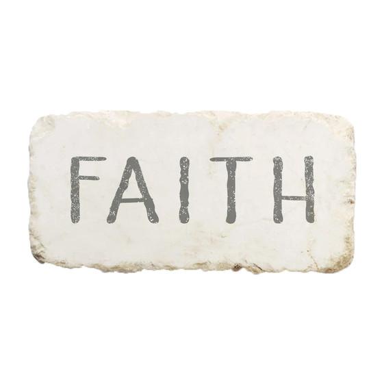 """Faith"" Scripture Stone"