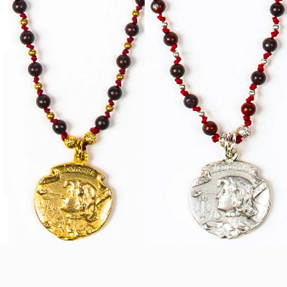 Joan of Arc Courage Necklace; Medal in Silver or Gold