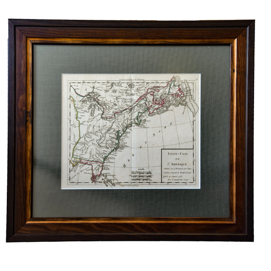"""""""United States of America, Showing the 13 States,"""" Printed in Paris in 1783, Beautifully Framed and Matted"""