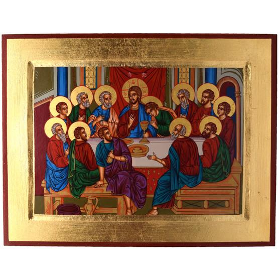 Last Supper Icon, 9 x 7 inches