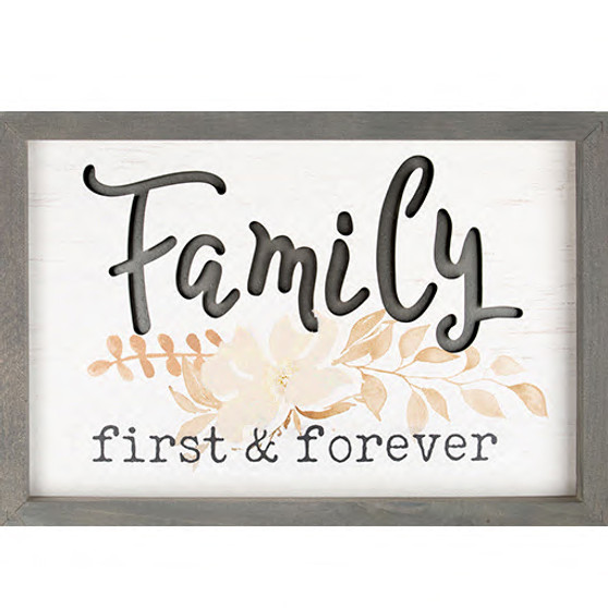 """Carved """"Family is Forever"""" 3-D Wall Decor, 16 x 11"""