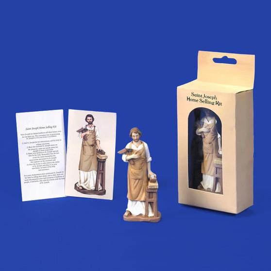 Saint Joseph Statue with Home Seller Kit