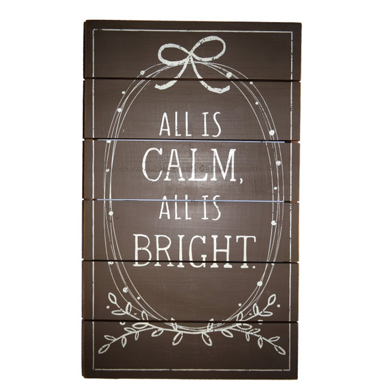 """""""All is Calm,  All is Bright"""" Wall Art"""