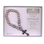 Blessing Beads for Baby with Cross for Boys