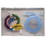 Angel Crib Medal and Rosary Set for Boys