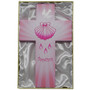 8 Inch Pink Wood Baptism Cross