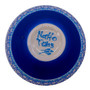 """Hand Painted Relief Turkish Blue and White Ceramic Decorative Bowl, Diameter 5"""", Height 2"""""""