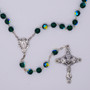 Crystal Rosary 8 mm Color Changing Beads, Miraculous Medal at Center