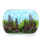 Recycled Glass Lupine Soap Dish