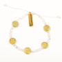 Gratitude Benedictine Bracelet with Gold Tone Medals, Crystal Beads , and Inspirational Card