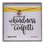 """""""Throw Kindness Around Like Confetti,"""" Sterling Silver Rhodium Dipped, 14"""" Chain"""