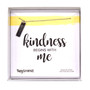 """Kindness Begins with Me,"" Sterling Silver Rhodium Dipped, 14"" Chain"