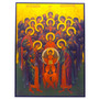 Holy Archangels Adoring Christ Child Icon, 5.5 x 8 inches.