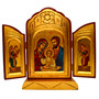 Holy Family Triptych Icon, 10 X 9 inches