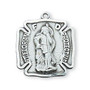"""Sterling Silver St. Florian medal 11/16"""" long with 24"""" chain."""