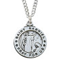 """Sterling silver St. Gabriel medal ¾"""", with 20"""" chain."""