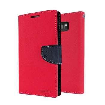 For Samsung Galaxy S7  Mercury Fancy Diary Case Red