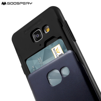 For Samsung Galaxy J7  SM-J700 Mercury Sky Slide Bumper Case Black