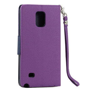 For Samsung Note 4 Flip Case Purple