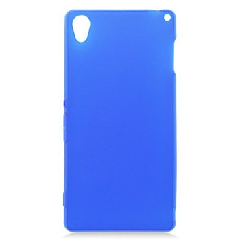 For Sony Z3  Rubber Case Blue