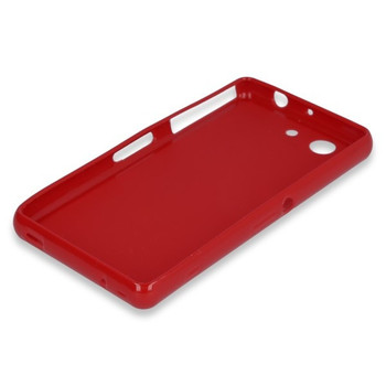 For Sony Z3  Rubber Case Red