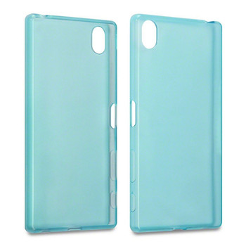 For sony Z5 Premium  Rubber Case Blue
