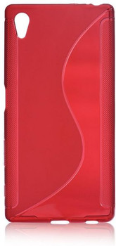 For sony Z5   Rubber Case Red