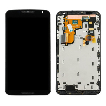 For Motorola Moto Nexus 6 LCD and Touch Screen Assembly With Frame (Black)