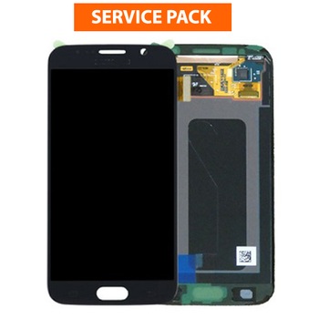 For Samsung Galaxy S6 Edge Service Pack LCD and Touch Screen Assembly (Black)