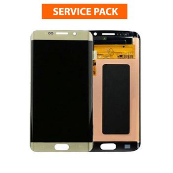 For Samsung Galaxy S6 Edge Service Pack LCD and Touch Screen Assembly (Gold)