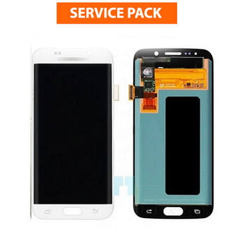 For Samsung Galaxy S6 Edge Service Pack LCD and Touch Screen Assembly (White)