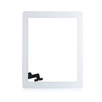 For iPad 2 Touch Screen With Home Button Assembly And Adhesive Tape Attached (White)
